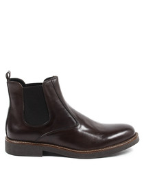 Men's Deep brown leather Chelsea boots