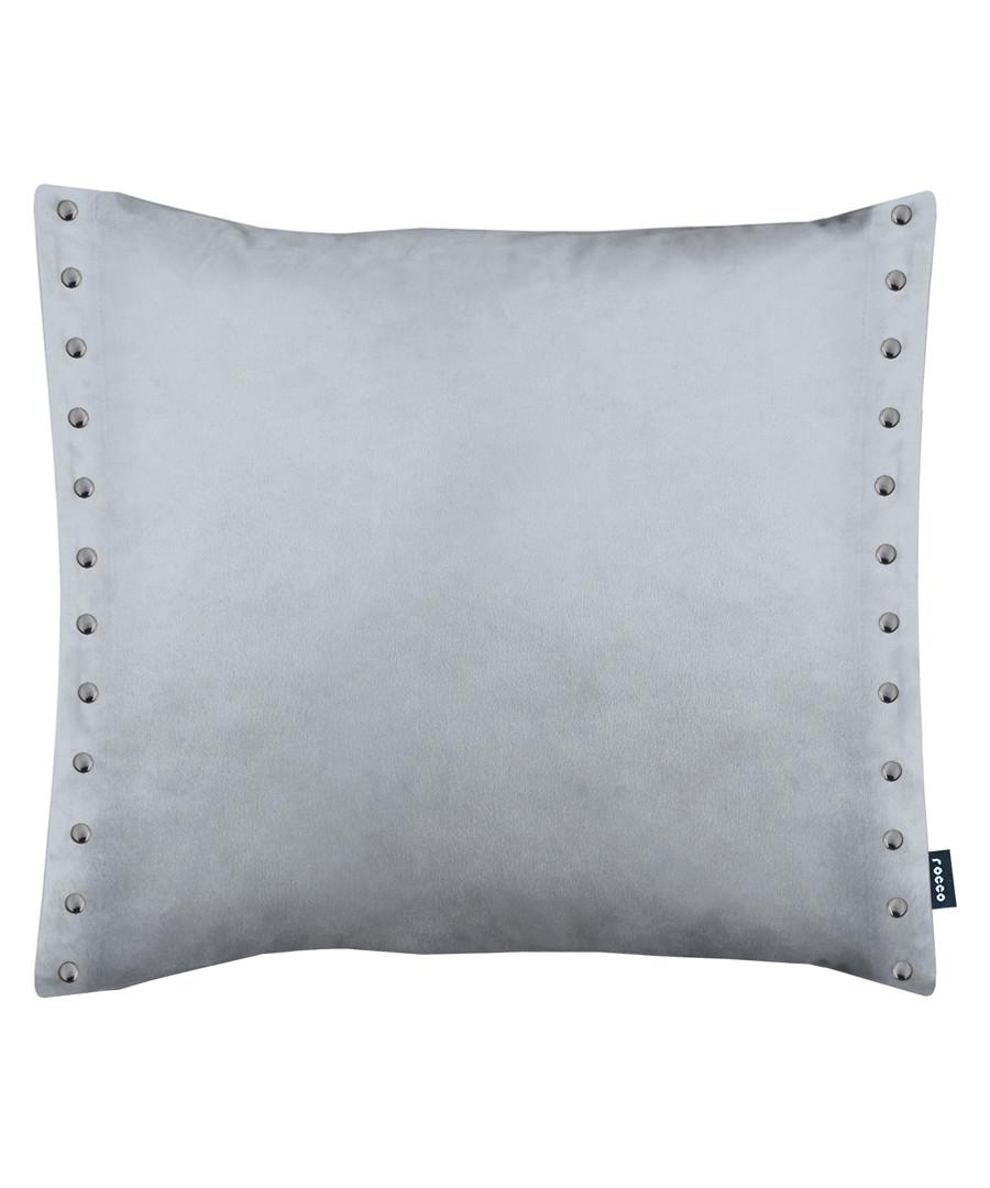 Brompton grey metal button cushion 43cm Sale - ROCCO