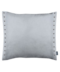 Brompton grey metal button cushion 43cm