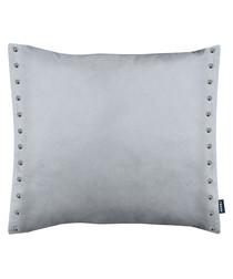 Brompton grey metal button cushion 43cm