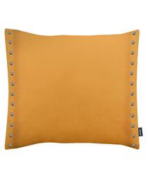 Brompton ochre button cushion 43cm