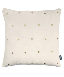 Kensington cream stud cushion 43cm