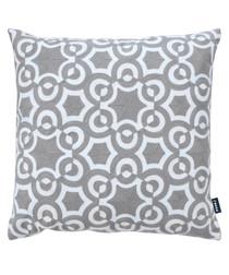 Azure grey cotton blend cushion 43cm