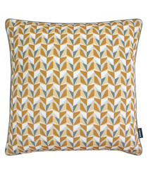 Malmo ochre digital print cushion 43cm