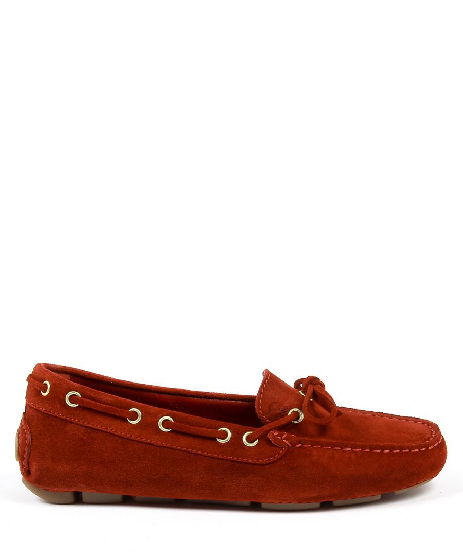 Burnt red suede moccasins Sale - v italia by versace 1969 abbigliamento sportivo srl milano italia