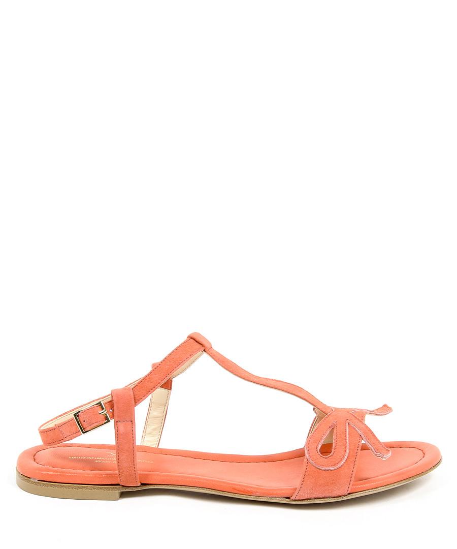 Orange & white leather sandals Sale - v italia by versace 1969 abbigliamento sportivo srl milano italia