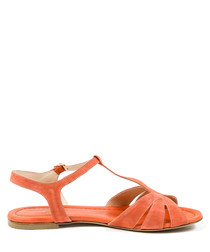Light orange leather sandals