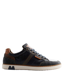 Men's B.Fuller blue leather sneakers