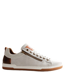 Men's C.Maderno off white suede sneakers