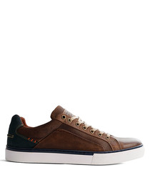 Men's P.Johnson brown leather sneakers