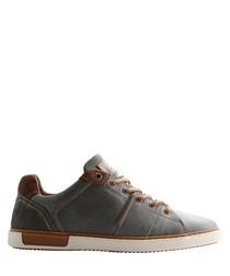 Men's P.Parler grey leather sneakers