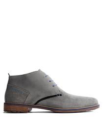 Men's R.Piano light grey suede boots