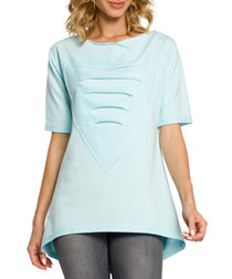 Mint cotton heart ripped top