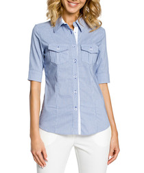 Light blue half sleeve shirt