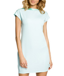 Mint green short sleeve dress