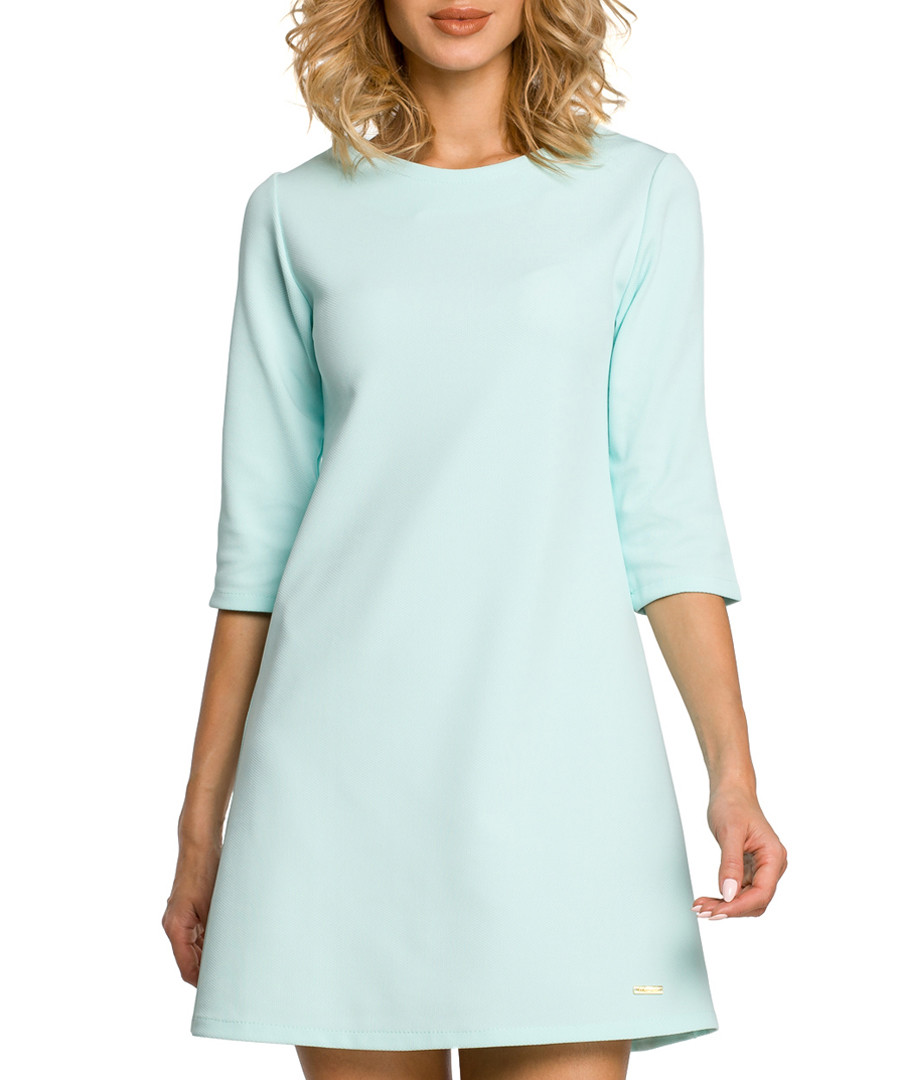 Mint A-line 3/4 sleeve dress Sale - made of emotion