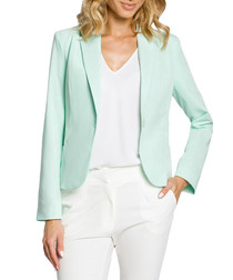 Mint green long sleeve jacket