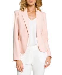 Powder pink long sleeve jacket