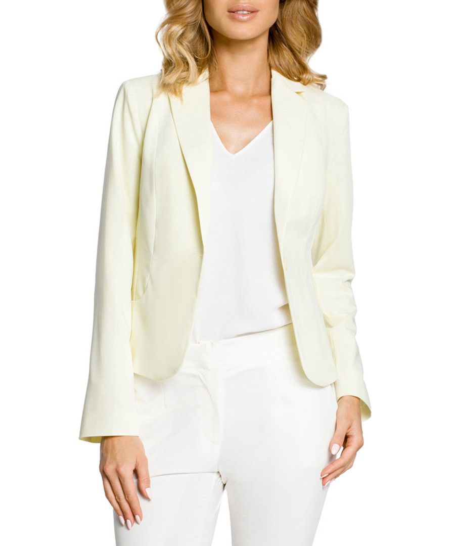 Pale yellow long sleeve jacket  Sale - made of emotion