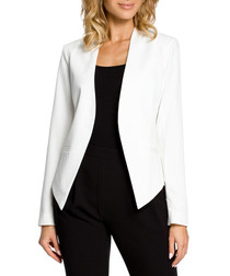 Ecru long sleeve pointed jacket