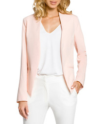 Powder pink long sleeve pointed jacket