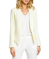 Pale yellow long sleeve pointed jacket