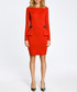 Red cotton blend ruffle zip dress Sale - made of emotion Sale