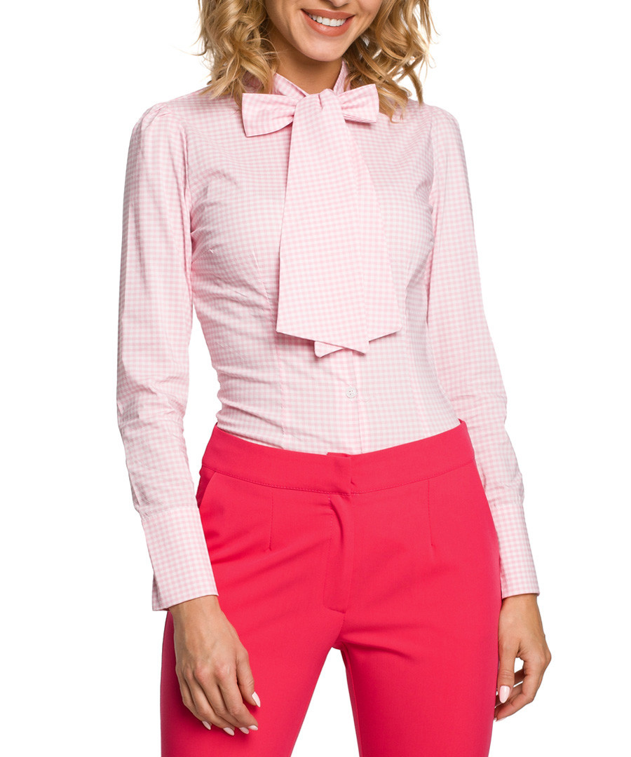 Light pink pussy bow shirt  Sale - made of emotion