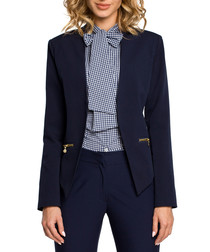 Navy blue zip detail jacket