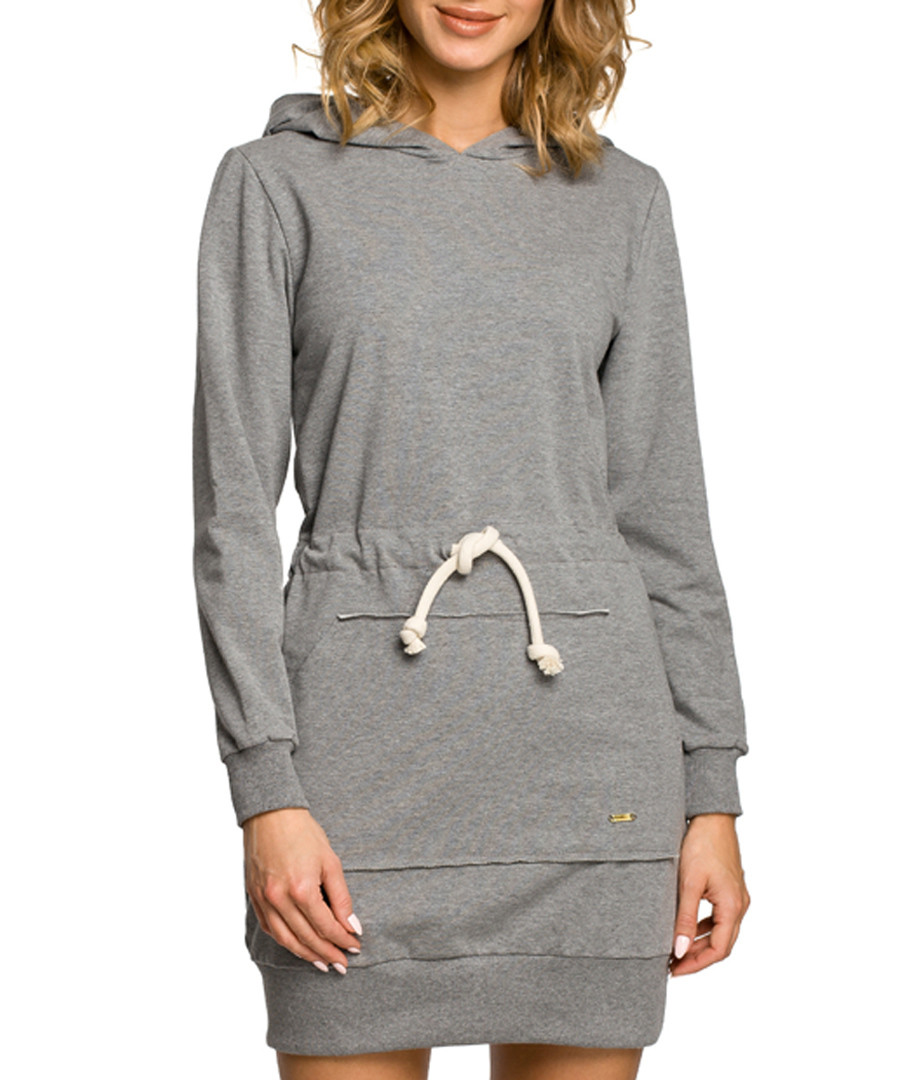 Grey cotton hoody dress Sale - made of emotion