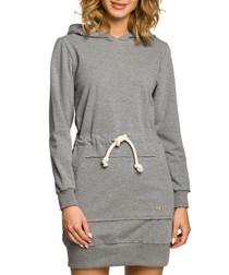Grey cotton hoody dress