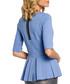 Blue peplum pleat 3/4 sleeve top Sale - made of emotion Sale
