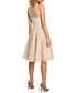 Beige mesh insert sleeveless midi dress Sale - made of emotion Sale