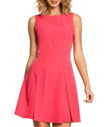 Pink kick-pleat dress