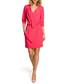 Pink wrap drape knee-length dress Sale - made of emotion Sale