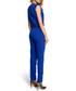 Royal blue wrap drape jumpsuit Sale - made of emotion Sale