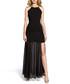 Black sheer thigh slit maxi dress Sale - made of emotion Sale