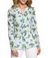 Ligth blue hummingbird print blouse Sale - made of emotion Sale