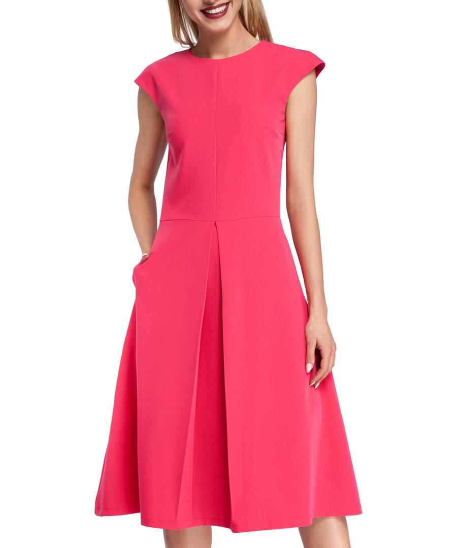 Pink kick-pleat midi dress Sale - made of emotion