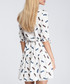 White feather print tiered V-neck dress Sale - made of emotion Sale