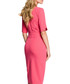 Pink structured midi dress Sale - made of emotion Sale