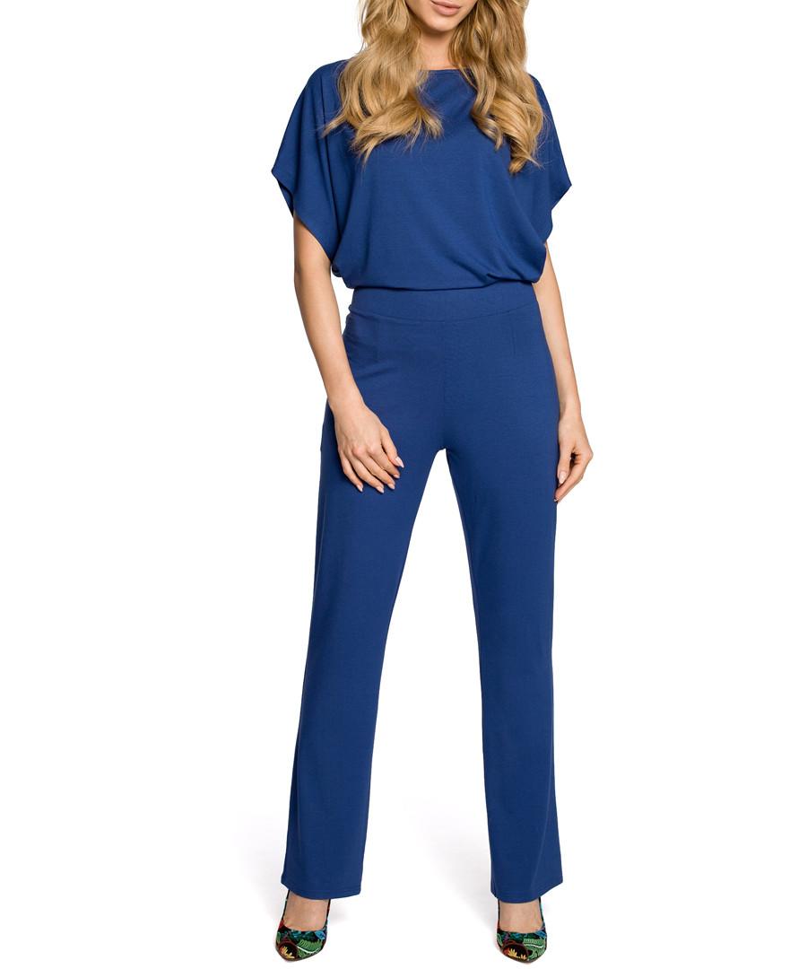 Blue short sleeve jumpsuit Sale - made of emotion