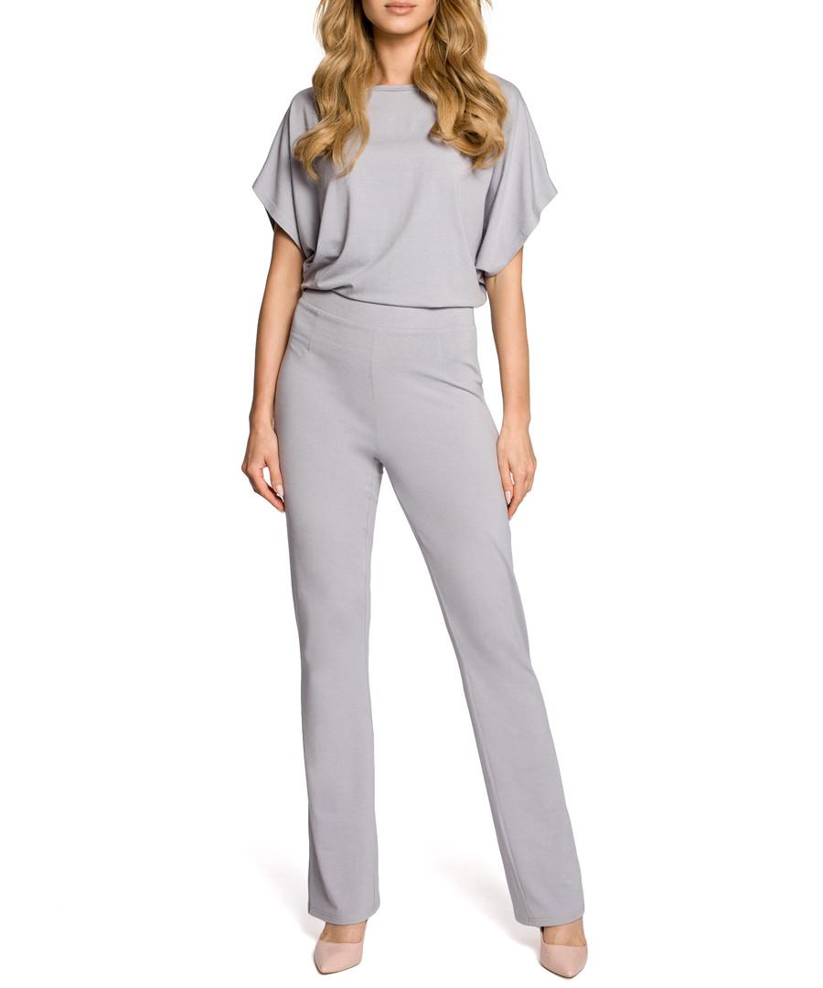 Grey short sleeve jumpsuit Sale - made of emotion