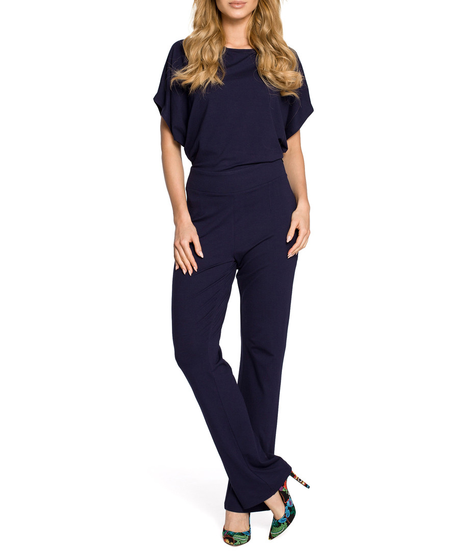 Navy blue short sleeve jumpsuit Sale - made of emotion