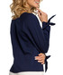 Navy blue tie wrist long sleeve blouse Sale - made of emotion Sale