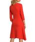 Red cotton blend pocket midi dress Sale - made of emotion Sale