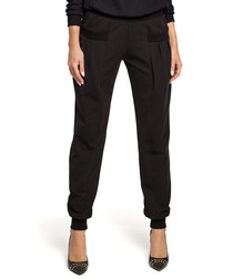 Black pocket trousers