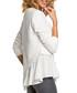 Ecru cotton blend hem detail blouse Sale - made of emotion Sale