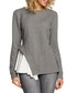 Grey cotton blend hem detail blouse Sale - made of emotion Sale