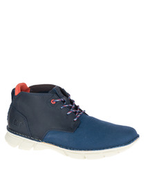 Men's Almanac blue mesh ankle boots